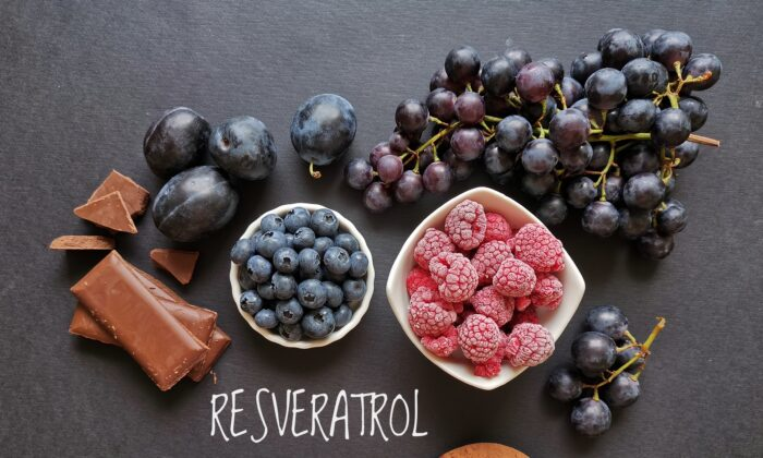 Resveratrol is a compound found in the skin of grapes, blue and purple berries, and dark chocolate that helps plants resist disease and environmental stressors. (Danijela Maksimovic/Shutterstock)