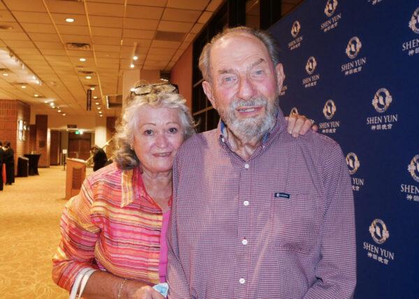 Professor Paul Opler and Evi Buckner-Opler at the Shen Yun.