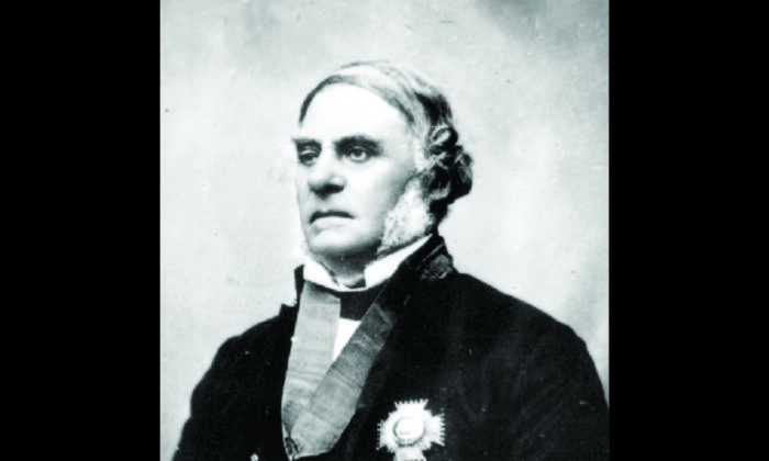 """Sir James Douglas was Chief Factor of the Hudson's Bay Company who became governor of Vancouver Island (1851–64) and British Columbia (1858–64). He is recognized as the """"Father of British Columbia."""" (Public domain)"""