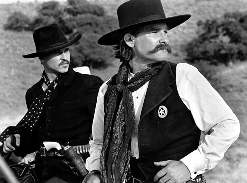 """two men on horseback in """"Tombstone,"""" for Val"""