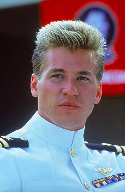 man in white Navy uniform in Top Gun, for Val