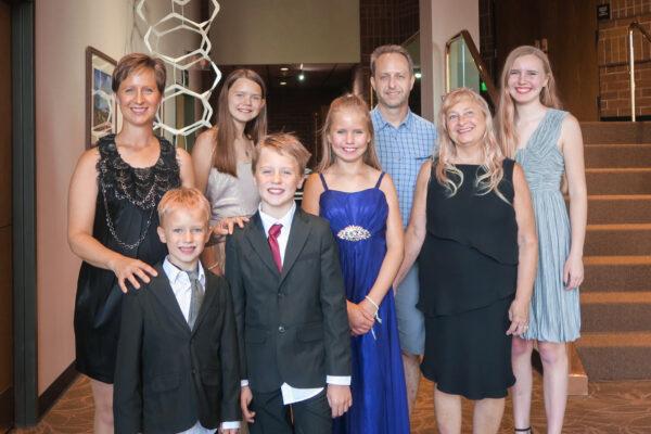 Gina Johnson, her family and friends, Bryce Cox and Dot Diemer enjoyed Shen Yun
