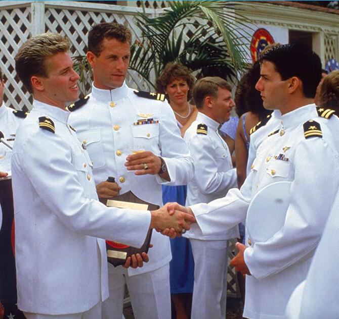 navy pilots at graduation in Top Gun for Val