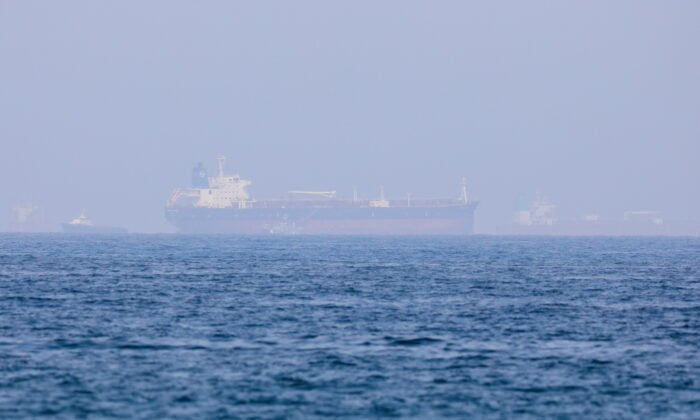 Mercer Street, an Israeli-managed oil tanker that was attacked last week is seen off Fujairah Port in United Arab Emirates, on Aug. 3, 2021. (Rula Rouhana/File/Reuters)