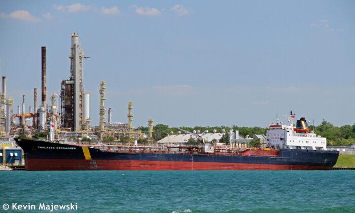 The Thalassa Desgagnes tanker, now called the Asphalt Princess, in Sarnia, Ontario, Canada, on June 19, 2016. (Kevin D.Majewski/Handout via Reuters)