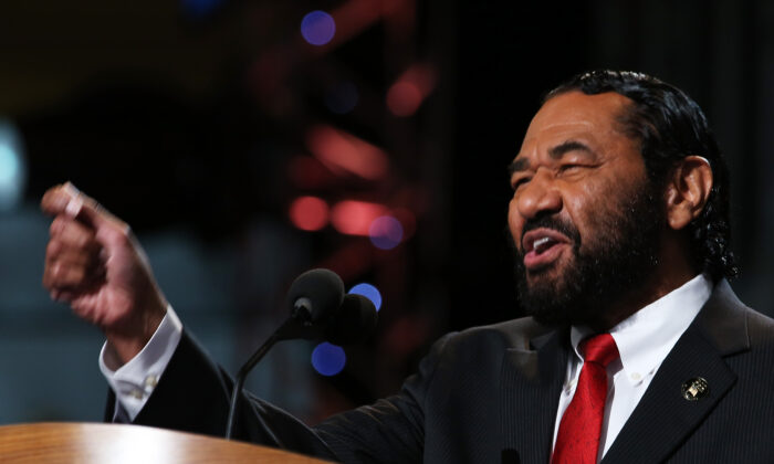 Rep. Al Green (D-Texas) speaks at the Democratic National Convention in Charlotte, N.C., on Sept. 5, 2012. (Chip Somodevilla/Getty Images)