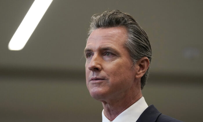 Gov. Gavin Newsom speaks at a news conference in Oakland, Calif., on July 26, 2021. (Jeff Chiu, File/AP Photo)