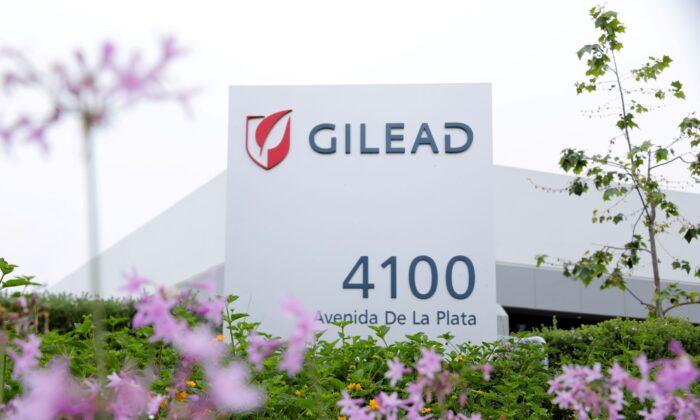 Gilead Sciences biotech company is seen in Oceanside, Calif., on April 29, 2020. (Mike Blake/Reuters)