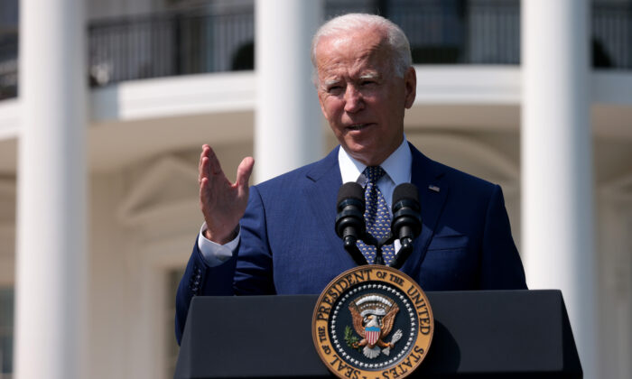U.S. President Joe Biden delivers remarks during an event on the South Lawn of the White House in Washington, D.C., on Aug. 5, 2021. (Photo by Win McNamee/Getty Images)
