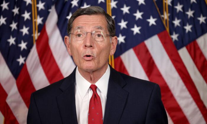 Sen. John Barrasso (R-Wyo.) speaks in Washington on May 11, 2021. (Win McNamee/Getty Images)