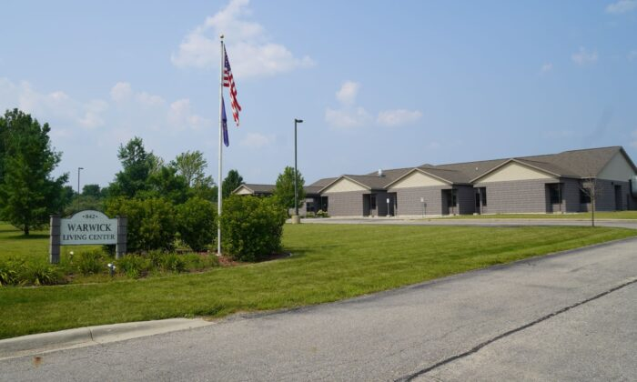 The proposed site for a residential resettlement center for illegal alien teenage boys in Alma, Michigan on August 4, 2021. (Steven Kovac/The Epoch Times)