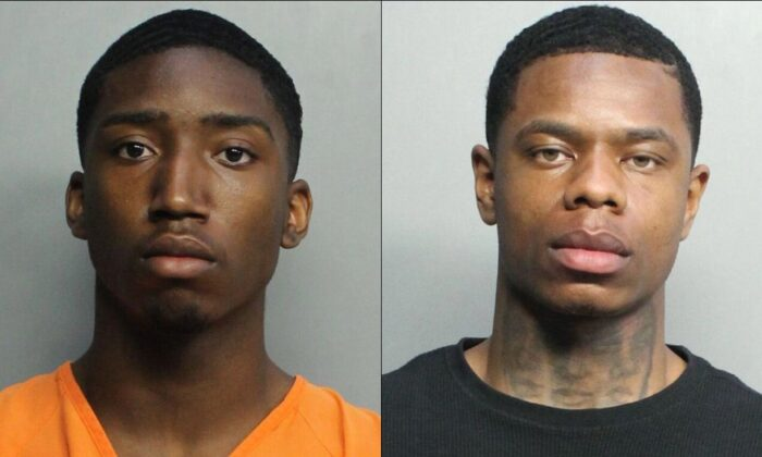 Evoire Collier  and Dorian Taylor. (Miami Dade Corrections)