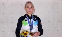 Slovenia's Garnbret Clinches First Gold Medal in Women's Climbing