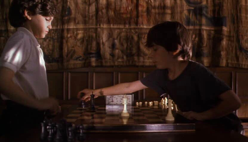 two boys play competition chess in SEARCHING FOR BOBBY FISCHER