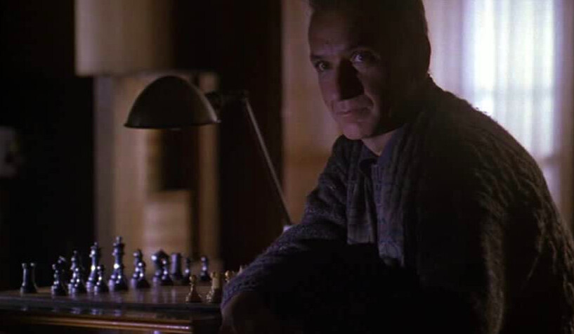chess teacher with chess board in SEARCHING FOR BOBBY FISCHER