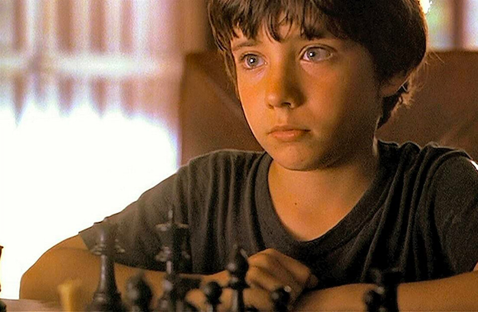 boy playing chess in SEARCHING FOR BOBBY FISCHER