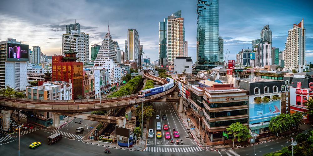 Bangkok,,Thailand,-,June,3,2018:,Silom,,Downtown,Bangkok.