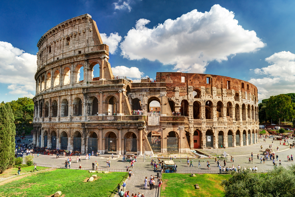 Colosseum,In,Rome,,Italy.,Ancient,Roman,Colosseum,Is,One,Of