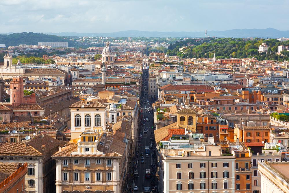 Top,View,On,Via,Del,Corso,In,Rome,,Italy