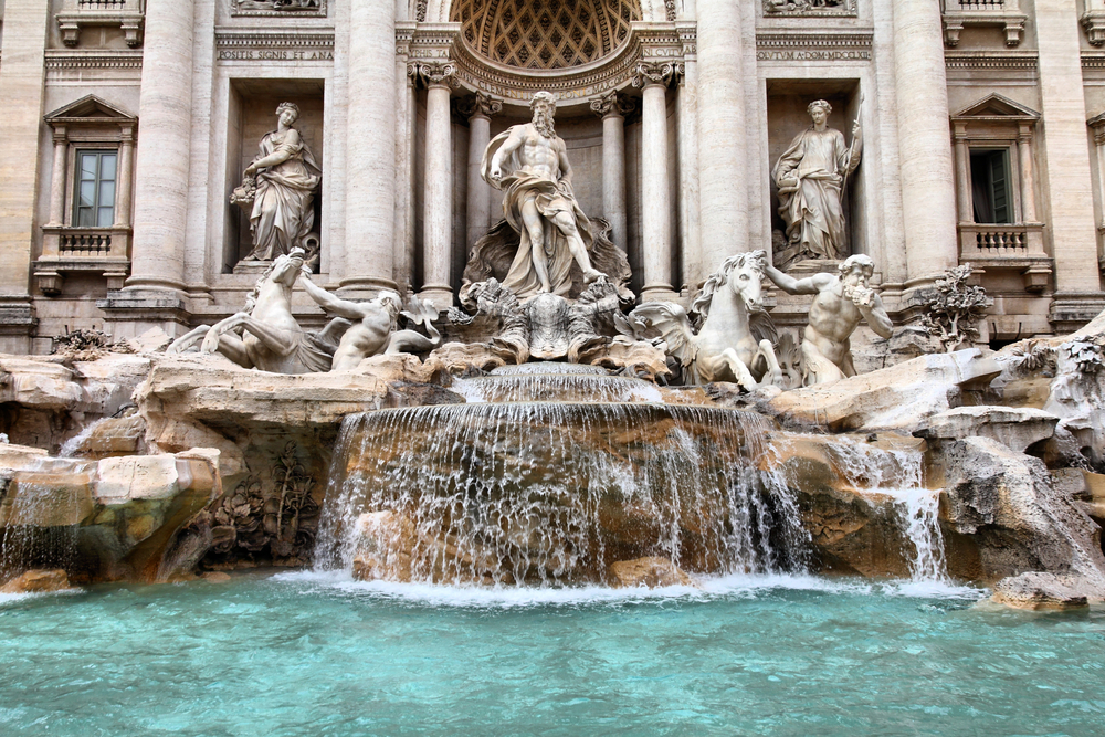 Rome,,Italy.,One,Of,The,Most,Famous,Landmarks,-,Trevi