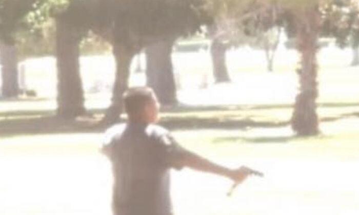 San Bernardino police officers were sent to Pioneer Memorial Cemetery. (Google Maps)