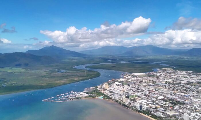 A general view of Cairns, Australia, from above taken on April 16, 2021. (Caden Pearson/The Epoch Times)