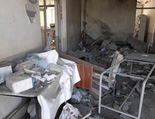 A damaged clinic
