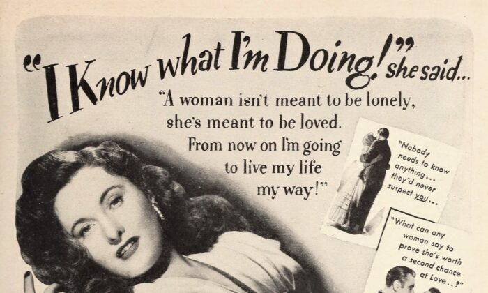 """Barbara Stanwyck's character learns that taking a shortcut to happiness can sometimes cause a world of pain. The poster for """"My Reputation. (Warner Bros.)"""