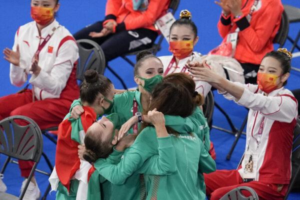 Bulgaria's rhythmic gymnastics' team