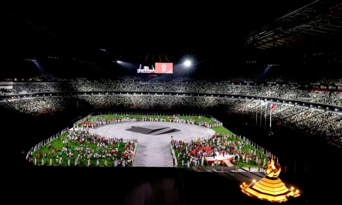 General view during the Closing Ceremony of the Tokyo 2020 Olympic Games at Olympic Stadium in Tokyo on Aug. 8, 2021. (Francois Nel/Getty Images)