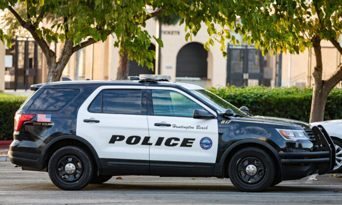 Huntington Beach Police Station in Huntington Beach, Calif., on Nov. 12, 2020. (John Fredricks/The Epoch Times)