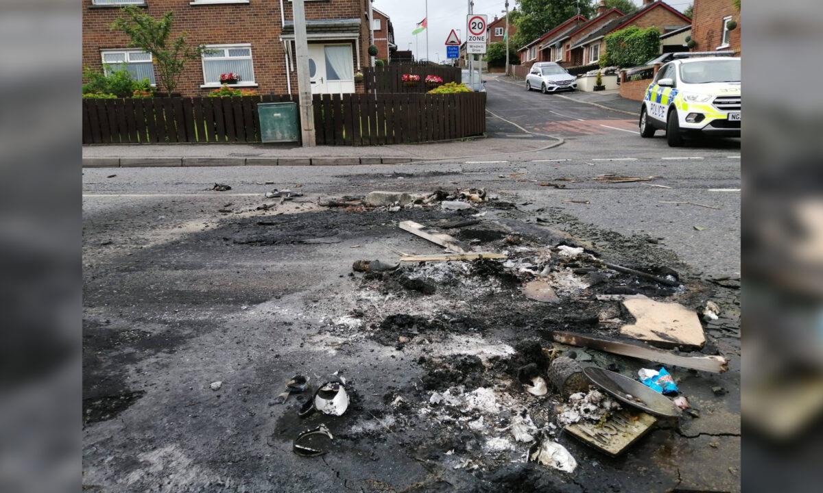 Dungannon unrest Northern Ireland Petrol Bombs