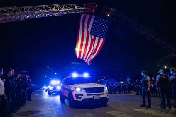 procession for a police officer