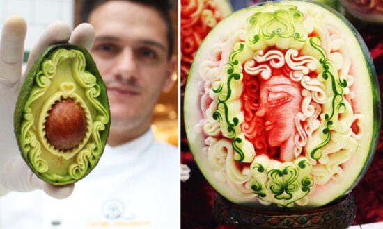 Photos: World Champion Carving Designer Sculpts Fruits Into Breathtaking Works of Art
