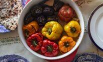 Baba Maral's Azerbaijani Stuffed Eggplants, Peppers, and Tomatoes ('Three Sisters')