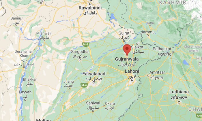 Map of Gujranwala district in Punjab province, Pakistan. (Google Maps)