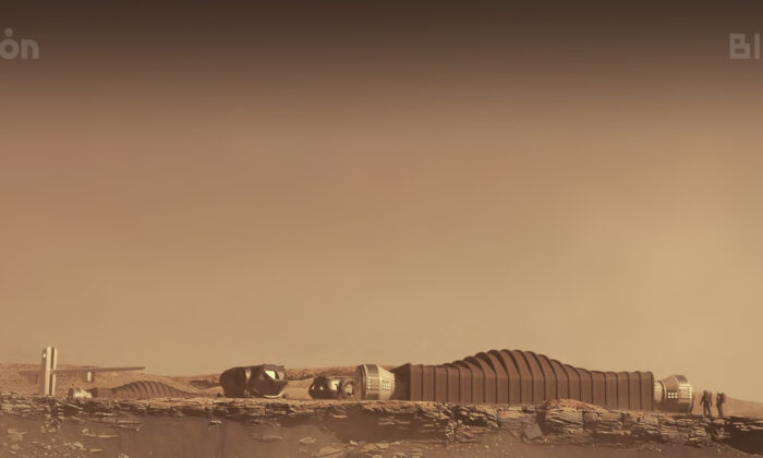 A proposal for the Mars Dune Alpha habitat on Mars on Aug. 2021. (ICON/NASA via AP)