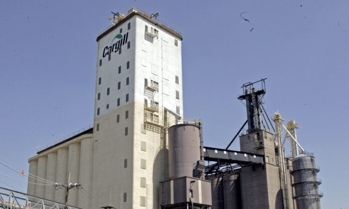 Cargill grain elevators in East St. Louis, Ill., on April 12, 2006. (James A. Finley/AP Photo)