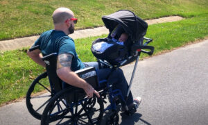 High School Teens Invent Baby Adaptation for Dad's Wheelchair After He Lost Ability to Walk