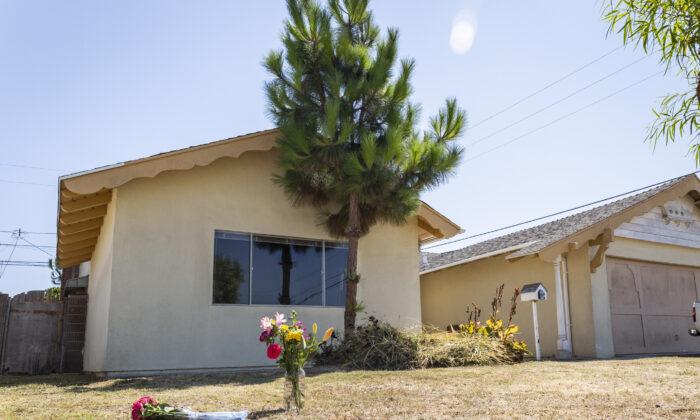 The home of shooting crimes in Huntington Beach, Calif., on Aug. 9, 2021. (John Fredricks/The Epoch Times)