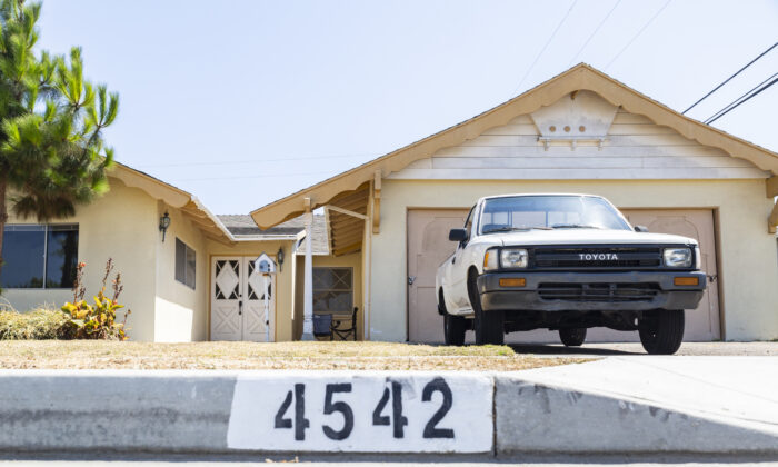 The home where a shooting occurred amidst a family dispute, in Huntington Beach, Calif., on Aug. 9, 2021. (John Fredricks/The Epoch Times)