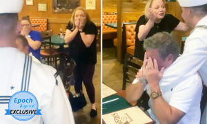 Sailor Astonishes Parents With Surprise Homecoming After Being Away for 19 Months