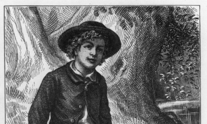 """Few boys had as many adventures as Mark Twain's Tom Sawyer. A detail of the first edition frontispiece, 1876, from """"The Adventures of Tom Sawyer."""" Library of Congress Prints and Photographs Division. (Public Domain)"""