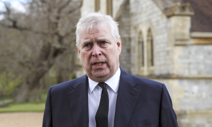 Prince Andrew, Duke of York, in Windsor, England, on April 11, 2021. (Steve Parsons - WPA Pool/Getty Images)