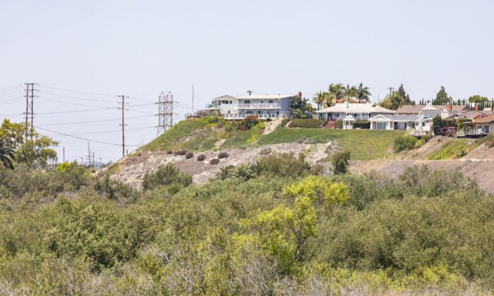 The Banning Ranch property area in Costa Mesa, Calif., on Aug. 9, 2021. (John Fredricks/The Epoch Times)