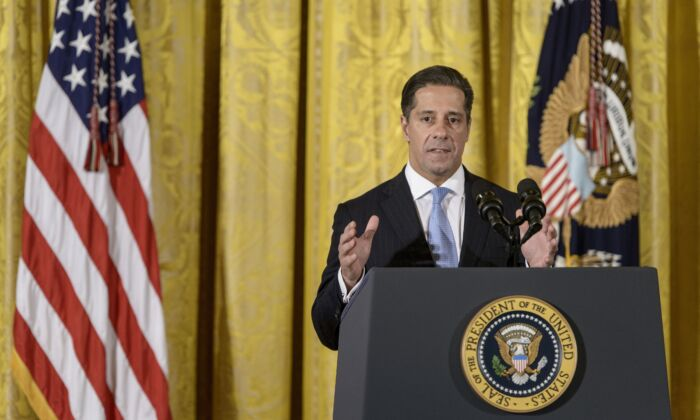 Alberto M. Carvalho, Superintendent of Miami-Dade County Public Schools, speaks at the ConnectED conference in the East Room of the White House, on Nov. 19, 2014. (Brendan Smialowski/AFP via Getty Images)