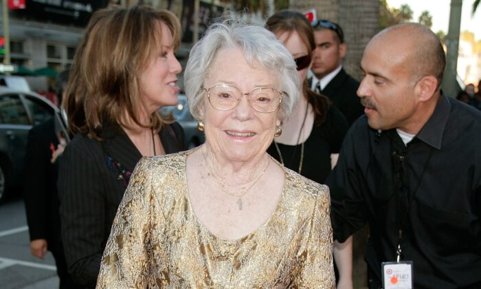 Patricia Hitchcock O'Connell arrives at AFI's 40th Anniversary celebration presented by Target held at Arclight Cinemas, in Hollywood, Calif., on October 3, 2007.  (Kevin Winter/Getty Images for AFI)
