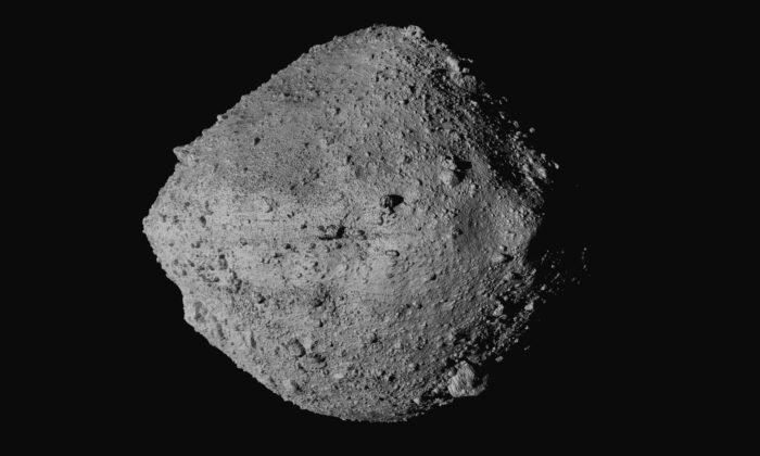 The asteroid Bennu from the OSIRIS-REx spacecraft in an undated image. (NASA/Goddard/University of Arizona/CSA/York/MDA via AP)