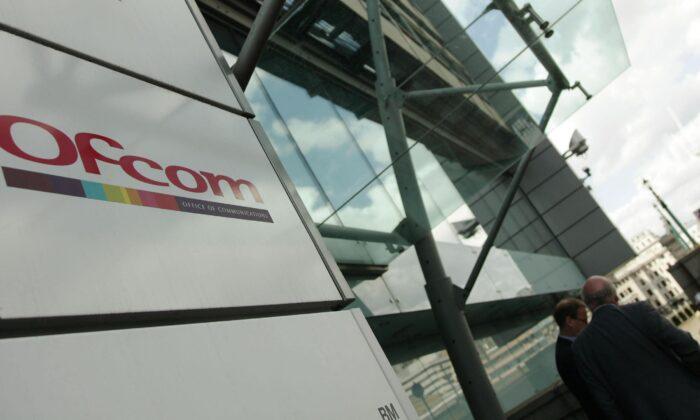 Ofcom logo in a file photo. (Yui Mok/PA)