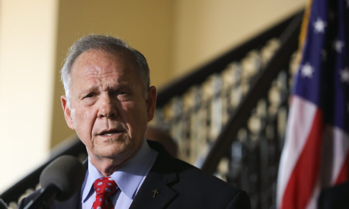 Roy Moore at a press conference in Montgomery, Alabama, on June 20, 2019. (Jessica McGowan/Getty Images)